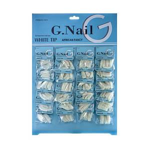 Типсы для наращивания G.Nail №G1011, перфарированные