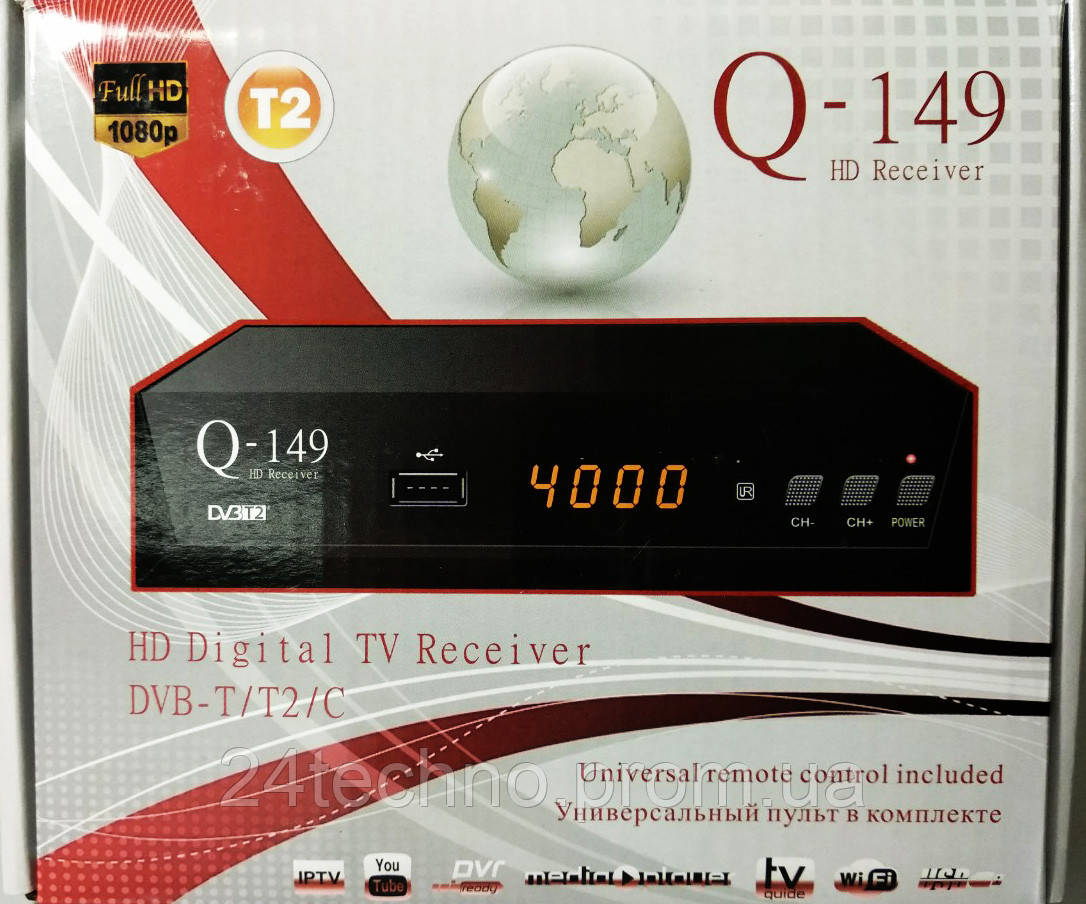 МегаХит! Т2 тюнер Q-149 T2+IPTV/Обучаемый пульт!