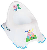 Горшок Tega Peppa Pig PO-066  with music нескользящий 103-N white-blue