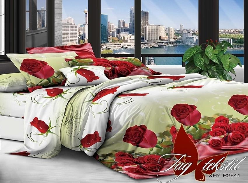 Комплект постельного белья XHY2841 двуспальный (TAG polycotton 2-sp-545)