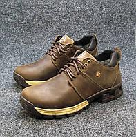 Ботинки мужские с мехом Extrem кожаные коричневые (р.41 9f3cece88fe35