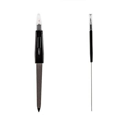 Пилка для ногтей №k-105 с триммером для удаления кутикулы, средняя pro, фото 2
