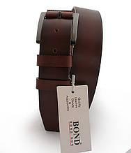Ремень мужской  кожаный коричневый BOND NON