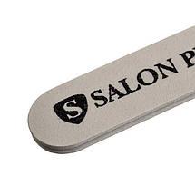Пилка для ногтей Salon Professional 180/100 №k-25, белая, прямая pro, фото 3