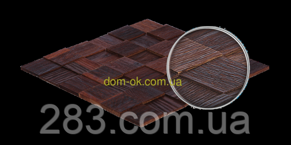 Мозаика деревянная из дуба 3D Tessera  * Дуб термо брашированный