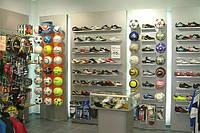 Стеллаж. Стеллажи для магазина спорттоваров. Мебель для бутиков. Торговое оборудование для обуви