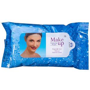 Влажные салфетки для снятия макияжа Fulya make up, 15шт