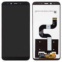 Дисплейный модуль (дисплей + сенсор) для Xiaomi Mi 6X, черный, оригинал