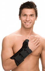 Бандаж компрессионный на лучезапястный сустав с с отведением первого пальца руки Тривес Т-8309