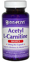 MRM Acetyl L-Carnitine 500 mg, caps 60, фото 1