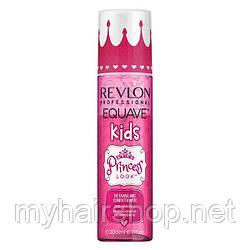 Двухфазный кондиционер с блестками для волос маленьких принцесс Revlon Equave Kids Princess Look 200 мл