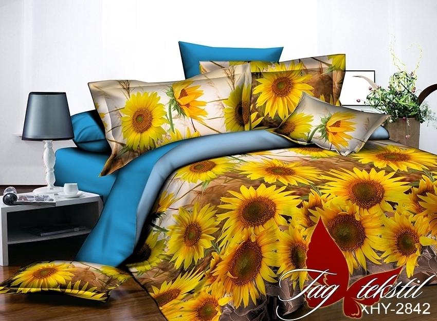 Комплект постельного белья XHY2842 двуспальный (TAG polycotton 2-sp-546)