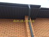 Металлическая водосточная система, желоб D-150 мм, труба D-120мм,  цветная * Угол желоба наружный/внутренний, фото 4