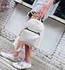Рюкзак женский кожзам с кисточкой Fendi Бежевый, фото 3