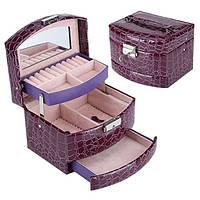 Шкатулка - автомат для украшений фиолетовая