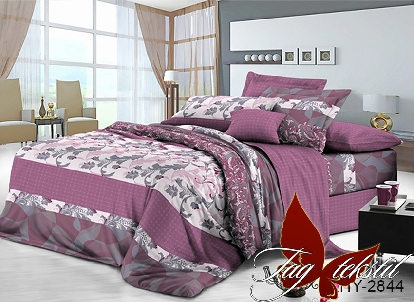 Комплект постельного белья XHY2844 двуспальный (TAG polycotton 2-sp-548)