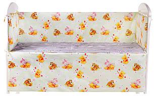 Защита в кроватку Qvatro Gold ZG-02  салатовая (винни-пух, тигра, пятачок)