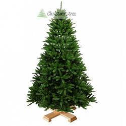 """Ялинка """"Традиційна"""" на дерев'яній підставці + гірлянда у подарунок"""