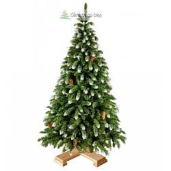 """Ялинка """"Засніжена"""" на дерев'яній підставці 1,85 м + гірлянда у подарунок"""