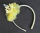 Детский ободок корона с фатином желтый, фото 2