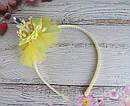 Детский ободок корона с фатином желтый, фото 3