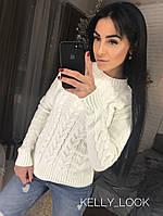 Женский теплый свитер вязка   (5 цветов), фото 1