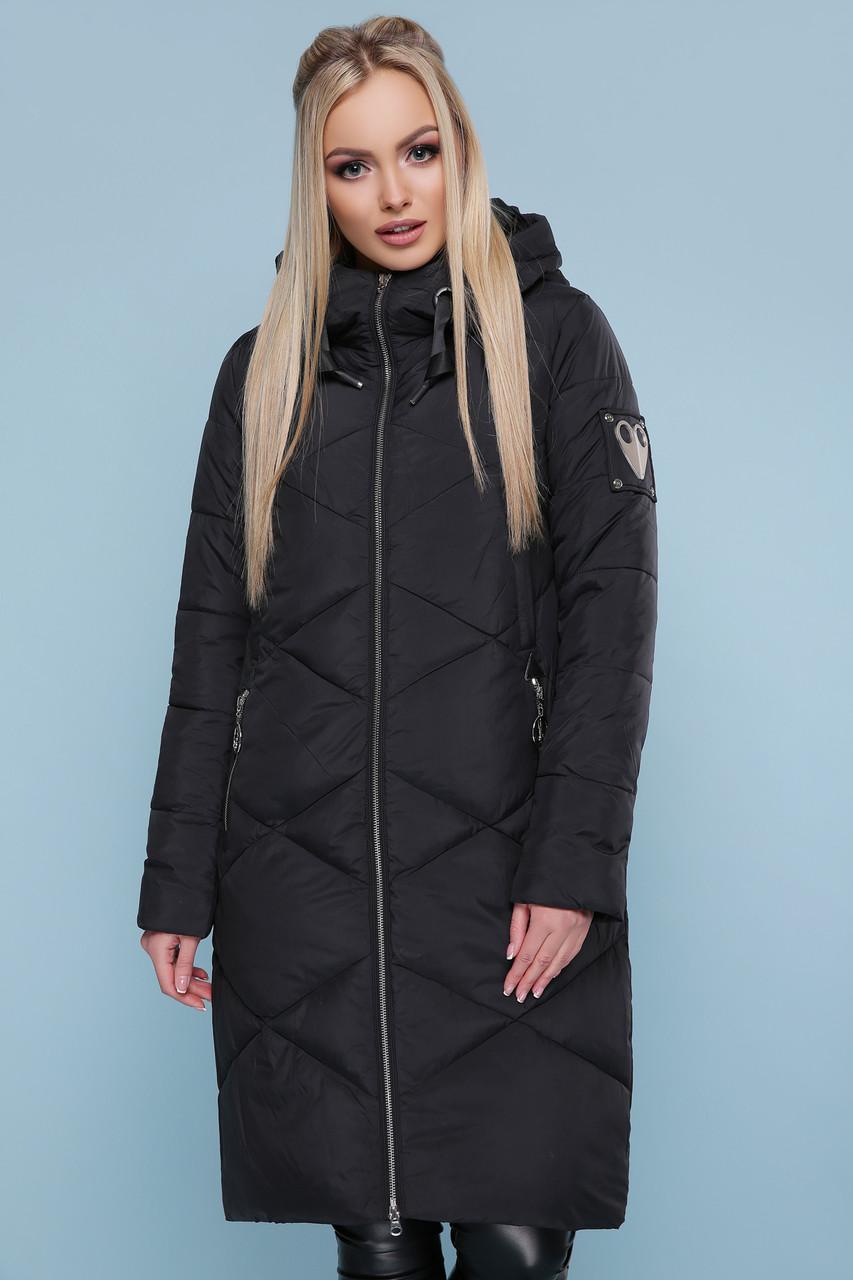 Зимняя женская куртка пуховик черная