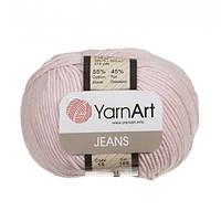 Хлопковая пряжа YarnArt Jeans 18 бледно-розовый (ЯрнАрт Джинс)