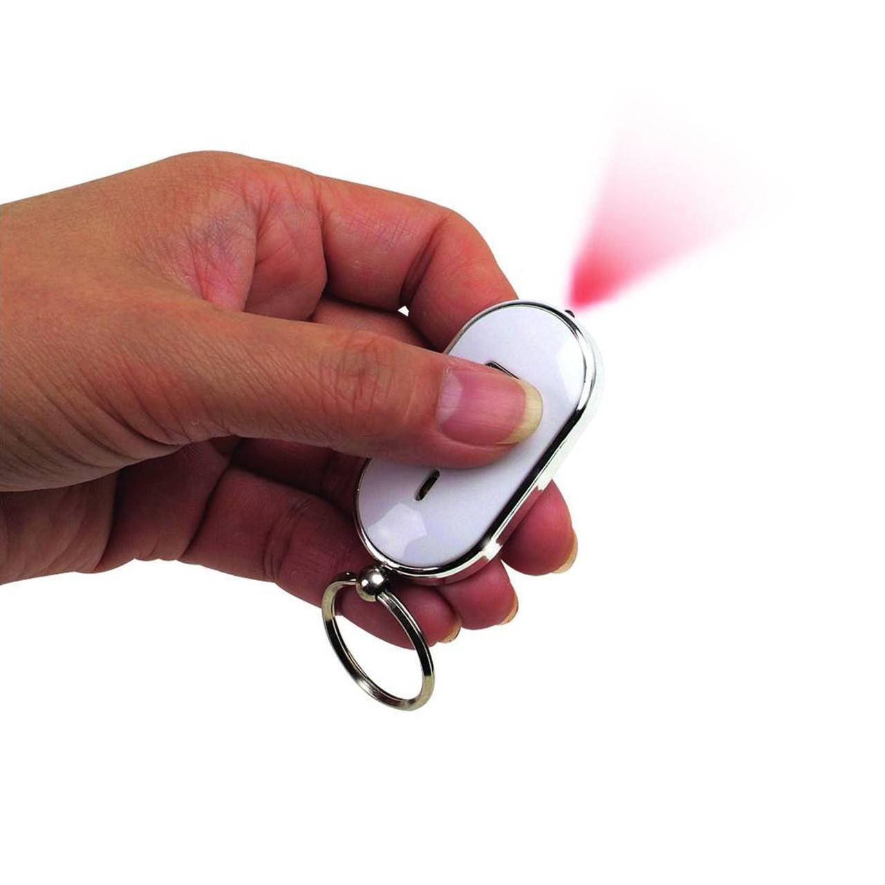 Брелок для поиска ключей и пультов управления QF-315 белый цвет с фонариком