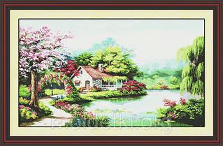 Набор для вышивания картины Весенний сад