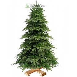 """Ялинка """"Ялинова гора"""" на дерев'яній підставці 155 + гірлянда у подарунок"""
