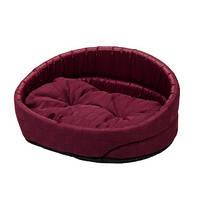 Лежак для собак и котов Люкс  4 (80х58х19 см) бордо и красный
