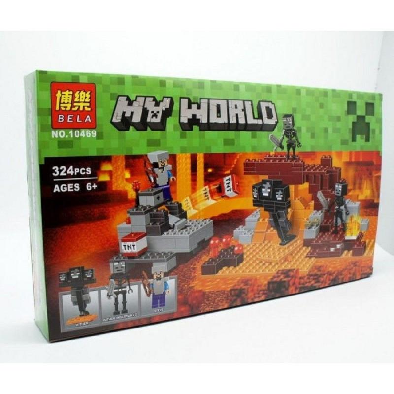 """Конструктор """"Иссушитель"""" Bela Minecraft 10469 324 детали"""
