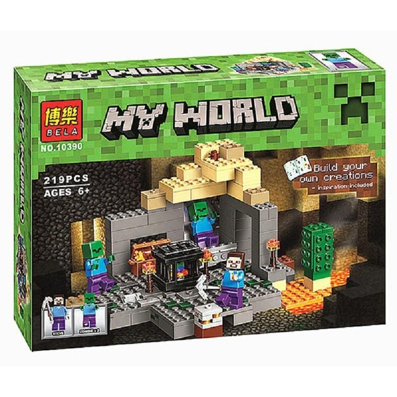 """Конструктор """"Подземелье"""" Minecraft Bela 10390 219 деталей"""