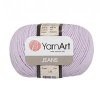 Хлопковая пряжа YarnArt Jeans 19 сиреневый (ЯрнАрт Джинс)