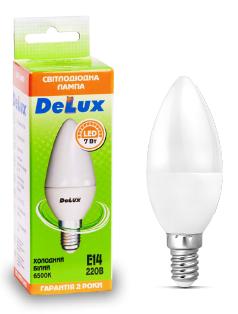 Светодиодная лампа  DELUX BL37B 7 Вт E14 теплый белый, фото 2