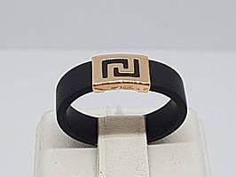 Кольцо из каучука с золотой вставкой. Артикул 900633 17,5 16 16,5