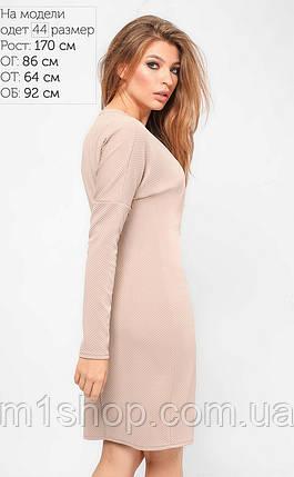 Женское однотонное стеганое платье (3285 lp), фото 2