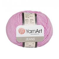 Хлопковая пряжа YarnArt Jeans 20 светло-розовый (ЯрнАрт Джинс)
