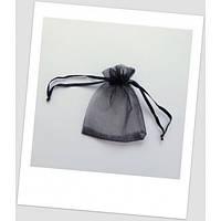 Мешочек из органзы ювелирный 9 см х 7 см чёрный (id:700007)