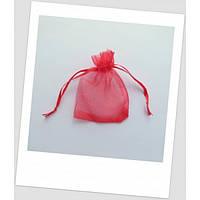 Мешочек из органзы ювелирный 9 см х 7 см красный (id:700013)