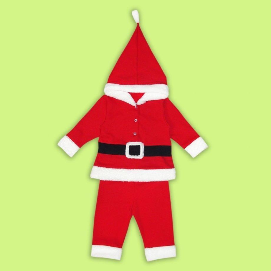 Костюм с капюшоном Санта (86, 92, 104 см)