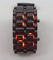 Часы мужские наручные Iron Samurai (Железный самурай) 012628 серебристые с красной подсветкой, фото 1