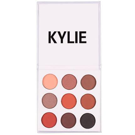 Набір тіней для повік Kylie the bronze palette, 9 кольорів, фото 2