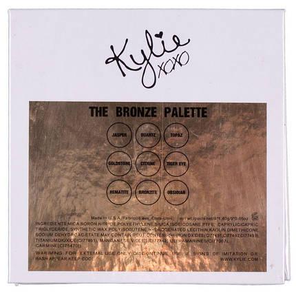 Набор теней для век Kylie the bronze palette, 9 цветов pro, фото 2