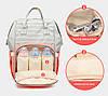 Сумка - рюкзак для мамы Полоска, персиковый ViViSECRET, фото 6