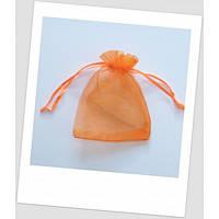 Мешочек из органзы  (12 х 9 см), оранжевый. (id:700021)