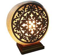 Соляная лампа круглая большая с узором