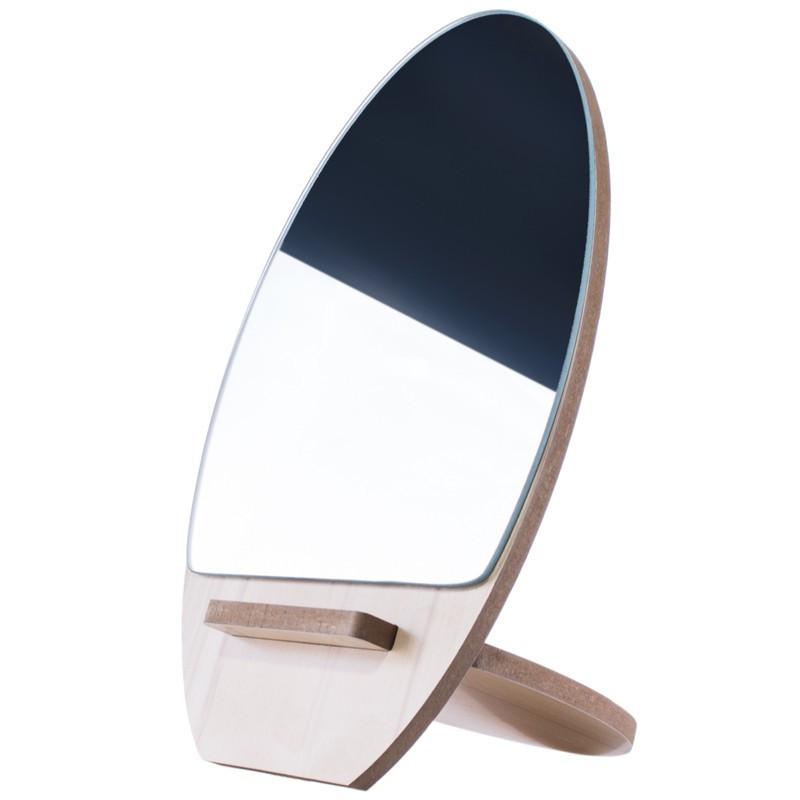 Косметическое настольное зеркало Ri Zhuang R-58, деревянное pro