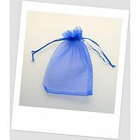 Мешочек из органзы 18 см х 13 см синий. (id:700028)